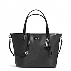 COACH METRO LEATHER SMALL TOTE - SILVER/BLACK - F32462