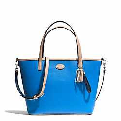 COACH METRO LEATHER SMALL TOTE - SILVER/CERULEAN - F32462