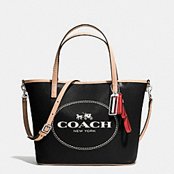 COACH METRO HORSE AND CARRIAGE SMALL TOTE - SILVER/BLACK - F32482