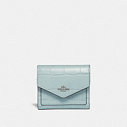 SMALL WALLET - SKY/SILVER - COACH F32486
