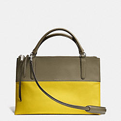 THE RETRO COLORBLOCK LEATHER BOROUGH BAG - f32502 - AKD4H