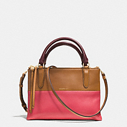 COACH THE MINI BOROUGH BAG IN RETRO COLORBLOCK LEATHER - GOLD/LOGANBERRY/TAN - F32503