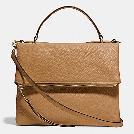 COACH URBANE SHOULDER BAG 2 IN PEBBLED LEATHER - GOLD/CAMEL - f32504