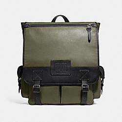 SCOUT BACKPACK - ARMY GREEN/BLACK COPPER FINISH - COACH F32572