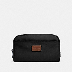 COACH TRAVEL KIT IN CORDURA - ANTIQUE NICKEL/BLACK - F32628