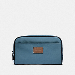 COACH TRAVEL KIT IN CORDURA - DENIM/BLACK ANTIQUE NICKEL - F32628