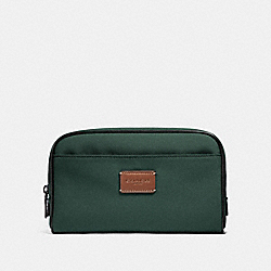 COACH TRAVEL KIT IN CORDURA - RACING GREEN/BLACK ANTIQUE NICKEL - F32628