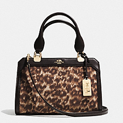 COACH MADISON MINI LEXINGTON CARRYALL IN OCELOT PRINT FABRIC - LIGHT GOLD/MULTICOLOR - F32681