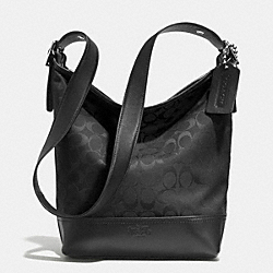 BLEECKER SIGNATURE FABRIC DUFFLE BAG - SILVER/BLACK/BLACK - COACH F32685