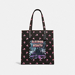 DISNEY X COACH SLEEPING BEAUTY TOTE - BLACK/BLACK COPPER - COACH F32718