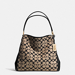 COACH MADISON PRINTED SIGNATURE FABRIC SMALL PHOEBE SHOULDER BAG - LID80 - F32721