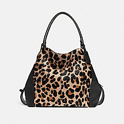 EDIE SHOULDER BAG 42 WITH EMBELLISHED LEOPARD PRINT - LEOPARD/BLACK COPPER - COACH F32738