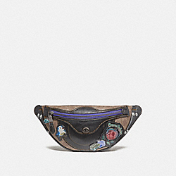 DISNEY X COACH CAMPUS PACK IN SIGNATURE PATCHWORK - BLACK - COACH F32756