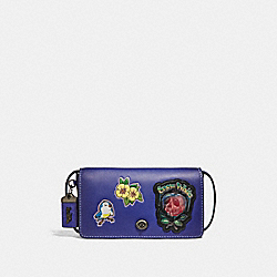 DISNEY X COACH DINKY WITH PATCHES - PURPLE/BLACK COPPER - COACH F32759