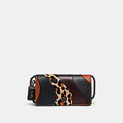 DINKY WITH LEOPARD PATCHWORK - LEOPARD MULTI/BLACK COPPER - COACH F32878