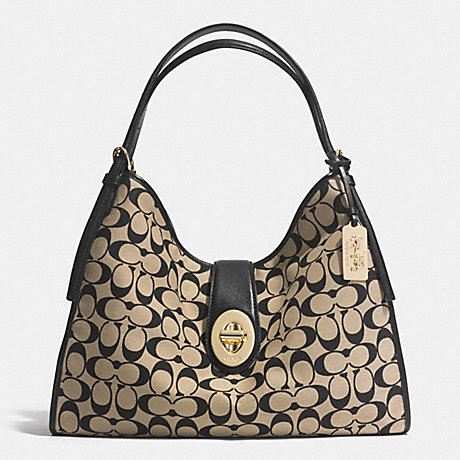 COACH MADISON CARLYLE SHOULDER BAG IN PRINTED SIGNATURE -  LID80 - f32907