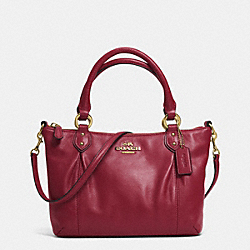 COACH COLETTE LEATHER MINI FASHION SATCHEL - IM/CRIMSON - F32947