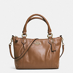 COACH COLETTE LEATHER MINI FASHION SATCHEL - IM/SADDLE - F32947