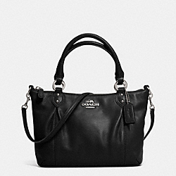 COACH COLETTE LEATHER MINI FASHION SATCHEL - SILVER/BLACK - F32947