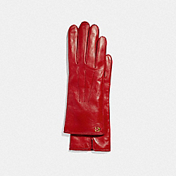 SCULPTED SIGNATURE TECH GLOVES - 1941 RED - COACH F32957