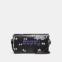DISNEY X COACH DOPEY HAYDEN FOLDOVER CROSSBODY CLUTCH - BLACK - COACH F33046