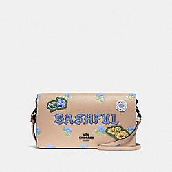 DISNEY X COACH BASHFUL HAYDEN FOLDOVER CROSSBODY CLUTCH - NUDE PINK - COACH F33047