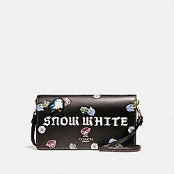 DISNEY X COACH SNOW WHITE HAYDEN FOLDOVER CROSSBODY CLUTCH - OXBLOOD - COACH F33051