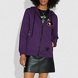 DISNEY X COACH DOPEY HOODIE - PURPLE - COACH F33224