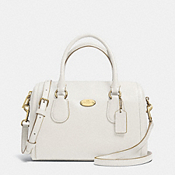 COACH CROSSGRAIN LEATHER MINI BENNETT SATCHEL - LIGHT GOLD/CHALK - F33329