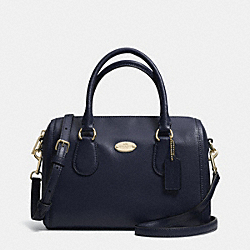 COACH CROSSGRAIN LEATHER MINI BENNETT SATCHEL - LIGHT GOLD/MIDNIGHT - F33329