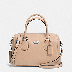 COACH CROSSGRAIN LEATHER MINI BENNETT SATCHEL - LIGHT GOLD/NUDE - F33329