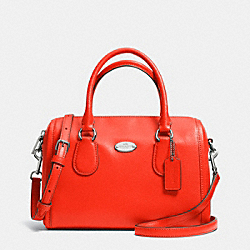 COACH MINI BENNETT SATCHEL IN CROSSGRAIN LEATHER - SILVER/ORANGE - F33329