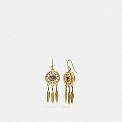 DREAM CATCHER DANGLE EARRINGS - GD/MULTI - COACH F33386