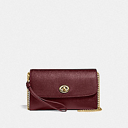 CHAIN CROSSBODY - IM/WINE - COACH F33390