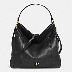 COACH GALLERY HOBO IN LEATHER - LIGHT GOLD/BLACK - F33436