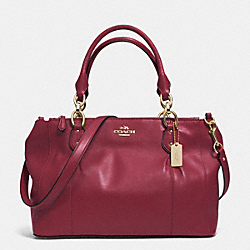 COLETTE LEATHER CARRYALL - f33447 - IM/CRIMSON