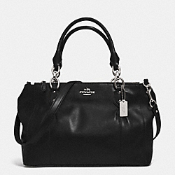 COACH COLETTE LEATHER CARRYALL - SILVER/BLACK - F33447