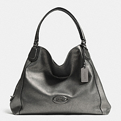 EDIE SHOULDER BAG IN METALLIC LEATHER - f33520 -  ANTIQUE NICKEL/GUNMETAL