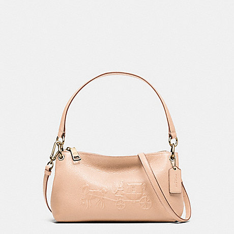 COACH EMBOSSED HORSE AND CARRIAGE CHARLEY CROSSBODY IN PEBBLE LEATHER -  LIAPR - f33521