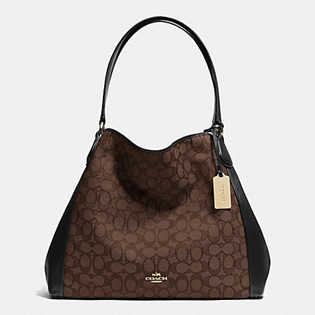 COACH EDIE SHOULDER BAG IN SIGNATURE - LIAA8 - f33523