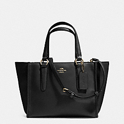 COACH CROSBY MINI CARRYALL IN SMOOTH LEATHER - LIGHT GOLD/BLACK - F33537