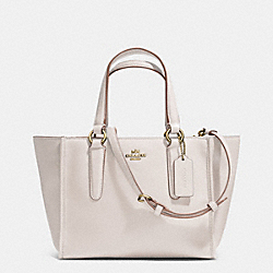 CROSBY MINI CARRYALL IN SMOOTH LEATHER - f33537 - LIGHT GOLD/CHALK