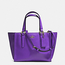 COACH CROSBY MINI CARRYALL IN SMOOTH LEATHER - LIGHT GOLD/VIOLET - F33537