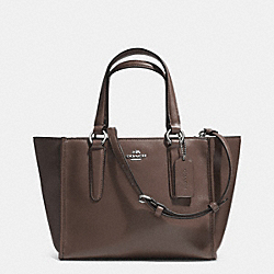 COACH CROSBY MINI CARRYALL IN SMOOTH LEATHER - SILVER/MINK - F33537