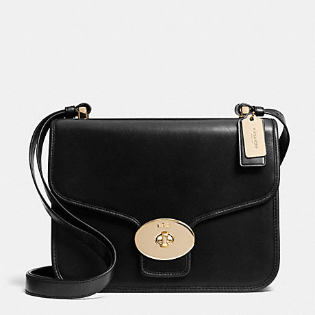 COACH PAGE SHOULDER BAG IN LEATHER -  LIGHT GOLD/BLACK - f33540
