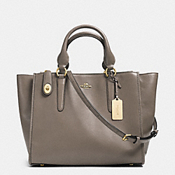 CROSBY CARRYALL IN SMOOTH LEATHER - f33545 - FOG