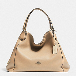 EDIE SHOULDER BAG IN PEBBLE LEATHER - f33547 - NUDE