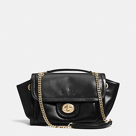 COACH RANGER FLAP CROSSBODY IN LEATHER -  LIGHT GOLD/BLACK - f33566
