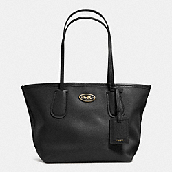 COACH COACH TAXI TOTE 24 IN LEATHER - LIGHT GOLD/BLACK - F33577