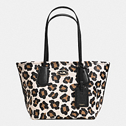 COACH COACH TAXI TOTE 24 IN OCELOT PRINT LEATHER - LIGHT GOLD/WHITE MULTICOLOR - F33578